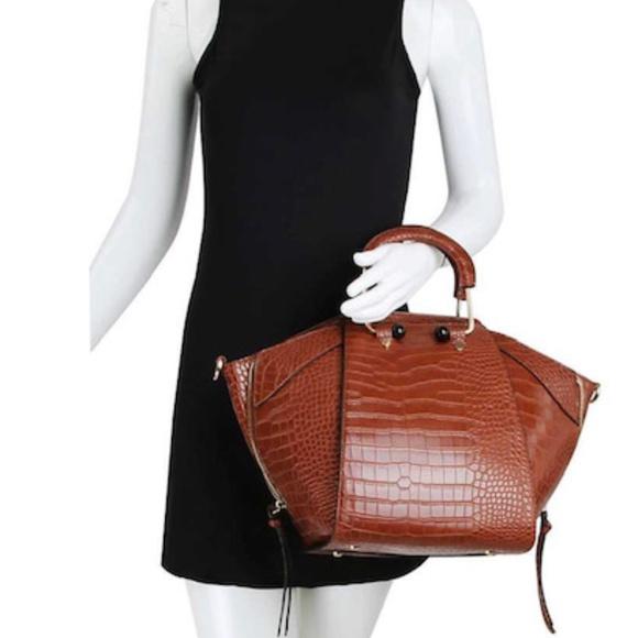 Republic Classic Bags Handbags - STYLISH CROCO TEXTURED SATCHEL W/MATCHING WALLET